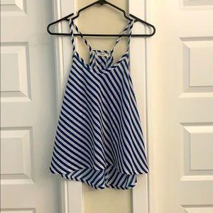 Poetry - blue and white striped top